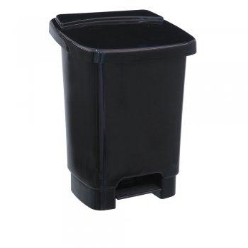 Lixeira 35 l c/ Pedal e Fixador p/ Saco de Lixo - Preta