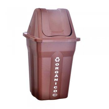 Lixeira 60 l c/ tampa basculante ( Orgânico )