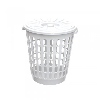Cesto Telado 30 l c/ tampa - Branco / Color Reciclado